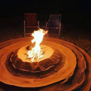 Sitting around the bonfire